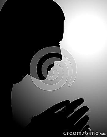 Mens die in Eenzaamheid en Schaduwen bidt