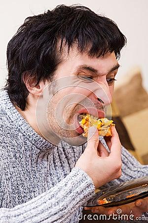 Mens die ongezonde kost eet