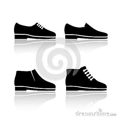 Free Mens Dress Shoe Icon. Set Of Icons. Stock Photography - 109372302