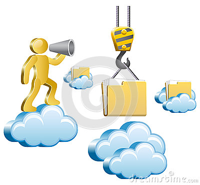 Mens en wolken