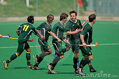 Mens field hockey action Editorial Photo