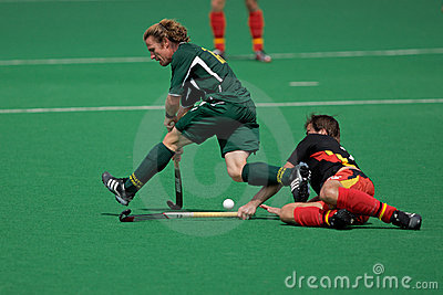 Mens field hockey action Editorial Stock Image
