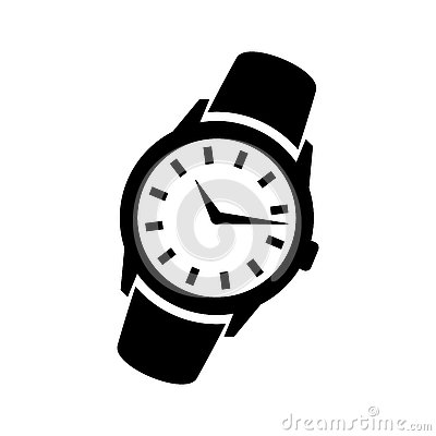 Free Mens Hand Classic Wrist Watch Icon Royalty Free Stock Image - 79658566