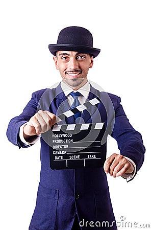Mens met filmklep