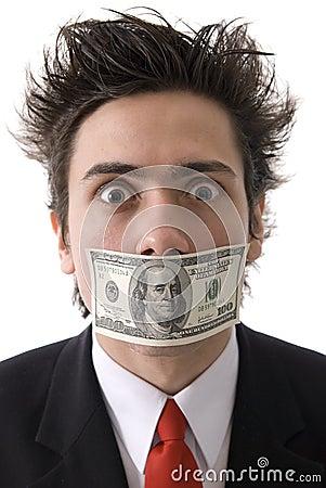 Mens met geld