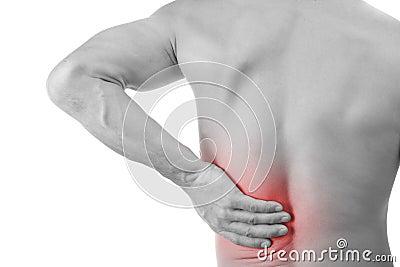 Mens met rugpijn