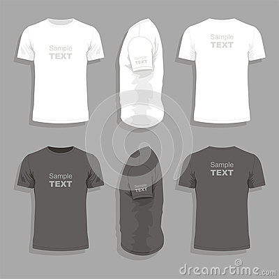 Free Mens T-shirt Design Template Stock Image - 30707401