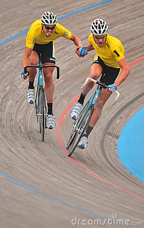 Mens  Velodrome Cycling - Hand-sling Editorial Photo