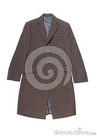 Mens woolen overcoat.