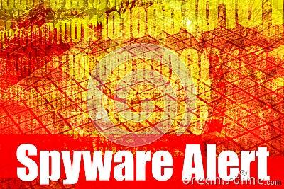 Mensagem de advertência alerta do Spyware