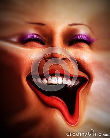 Menschliches verzerrtes Gesicht 8