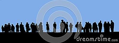 Mensen in lijn
