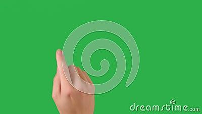 Mensenhand acht gebaren voor tabletpc of smartphone stock footage
