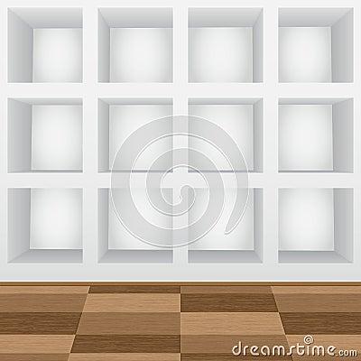 Mensole nella parete fotografia stock   immagine: 24245022