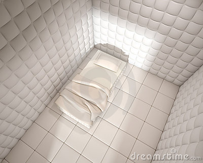 Mental hospital padded room from
