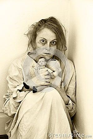 RTC Wednesday Drama 5/25/16 Mentally-ill-woman-psychiatric-ward-two-dolls-44102694