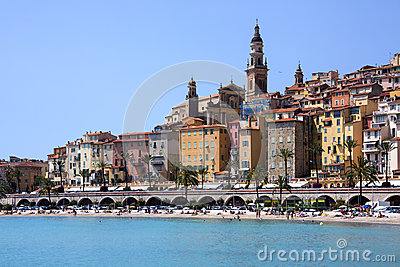 Menton - French Riviera - South of France Editorial Photo
