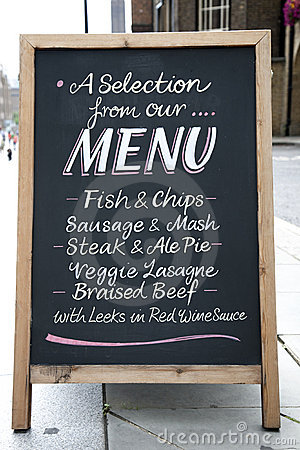 Free Menu Board Stock Photos - 15832563