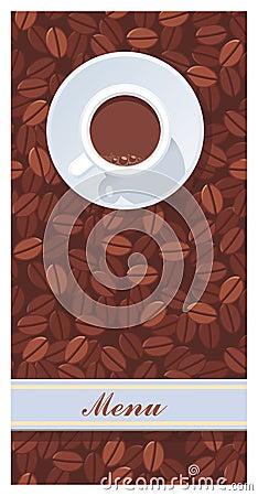 Menu or cafe card