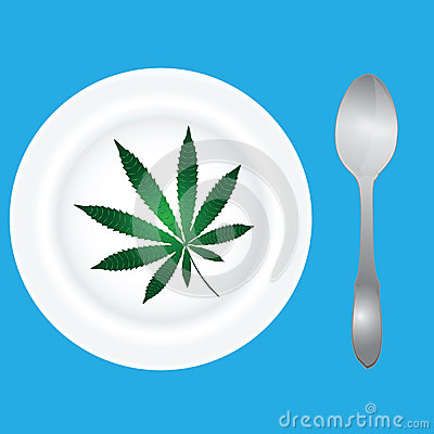 Menu with cannabis