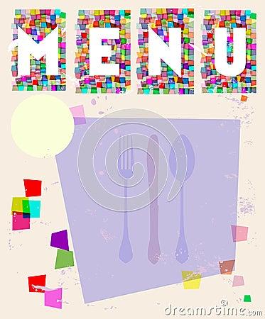 Menu card, design template