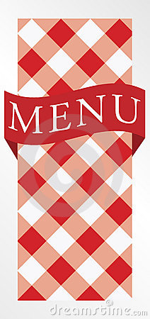 Menu Card - Red Gingham