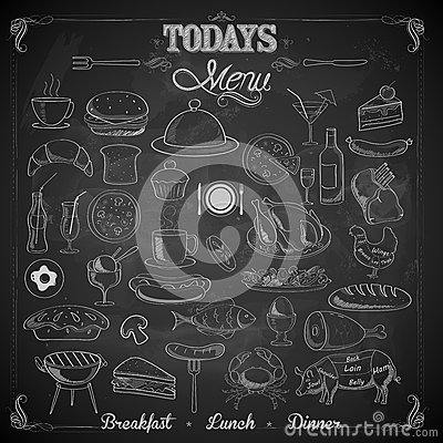 Free Menu Chalk Board Stock Image - 40200701