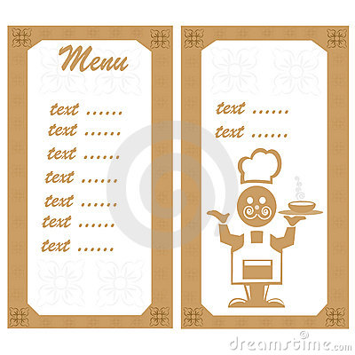 Menu with the chef