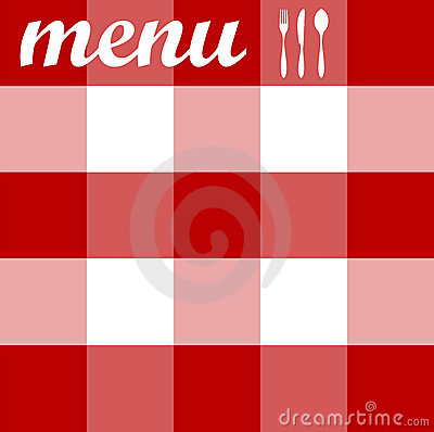 Free Menu Design. Cutlery On Red Tablecloth Texture Stock Image - 11158861