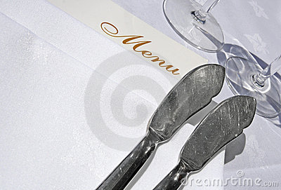 Menu and fish knives