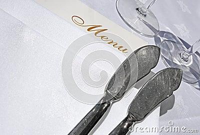Menu and fish knives