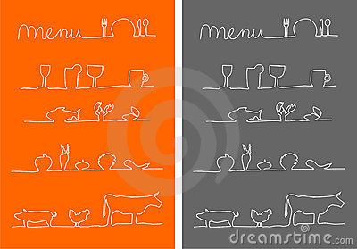 Menu, food and drink menu icons