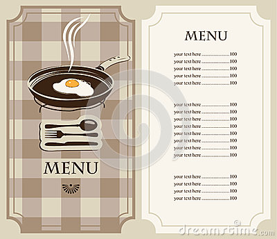 Menu fried eggs
