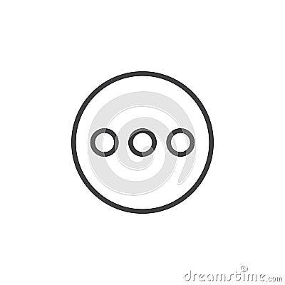Free Menu, More Circular Line Icon. Round Simple Sign. Stock Photo - 95310810
