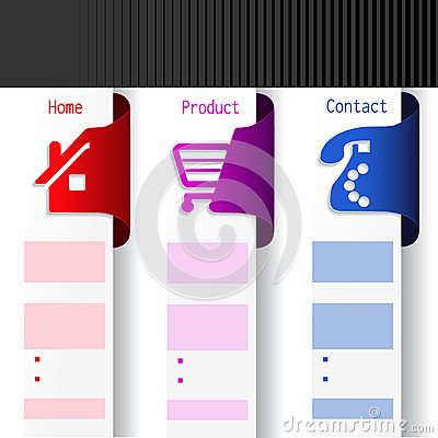Menu navigation labels - web template