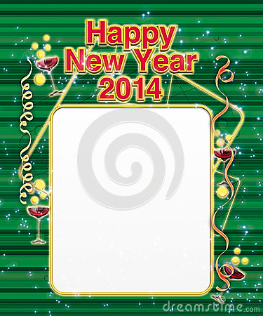 Menu New Year 2014 green