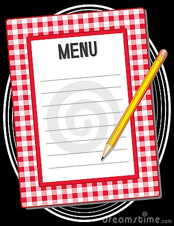 Menu with Pencil