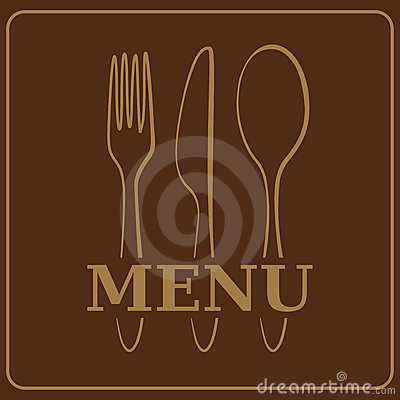 Menu or restaurant card