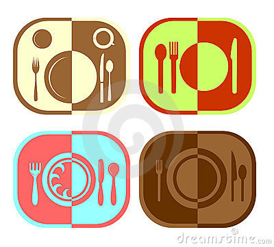 Menu or restaurant icons