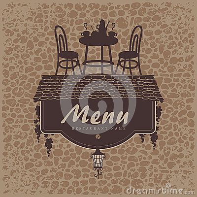 Menu with a roof