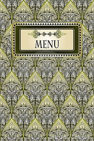 menu and seamless vintage pattern