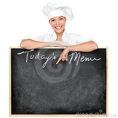 Menu sign chef