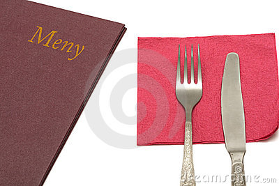 Menu with silverware