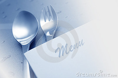 Menu with spoon and fork