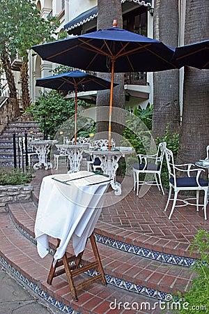 Menu table restaurant