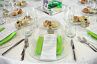 Menu on wedding table