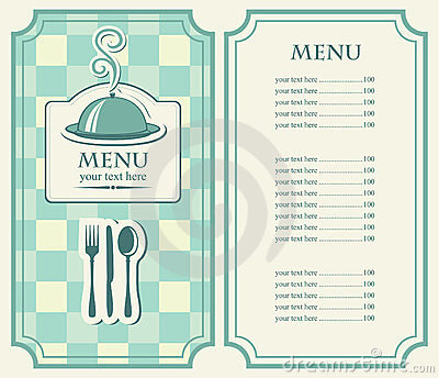 Menus cafe or restauran
