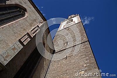 Merano or Meran clock tower