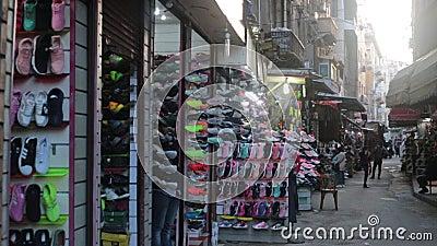 Mercado callejero en Alexandría almacen de metraje de vídeo