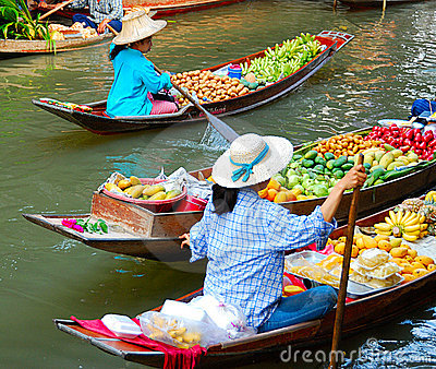 Mercado de fruta famoso Imagem de Stock Editorial